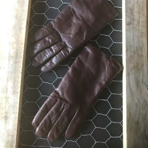 Pompei -  soft leather brown gloves, Size : small
